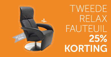 2e relaxfauteuil 25% korting