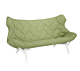 Kartell Foliage bank-Frame wit-Trevira groen