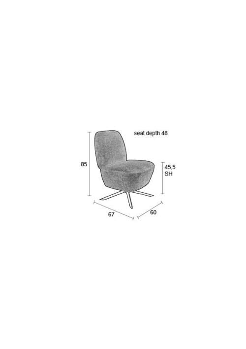 Zuiver Dusk fauteuil-Sand