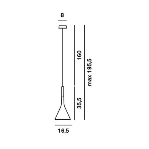 Foscarini Aplomb hanglamp-Grijs