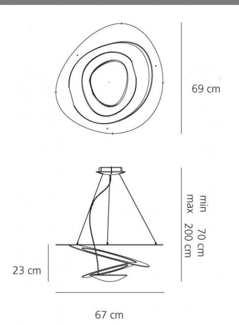Artemide Pirce mini hanglamp - Wit