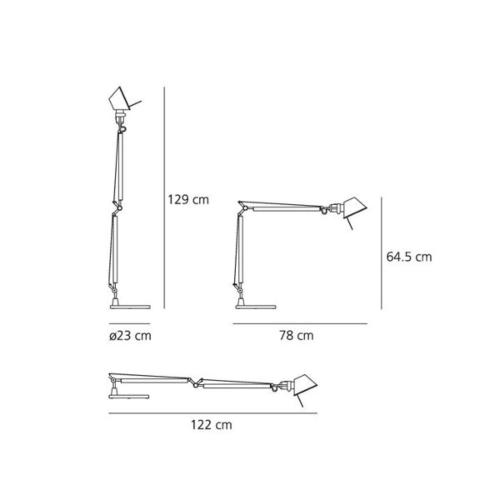 Artemide Tolomeo HALO aluminium tafellamp