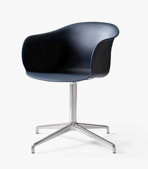 &tradition Elefy JH34 stoel-Midnight blue-Aluminium