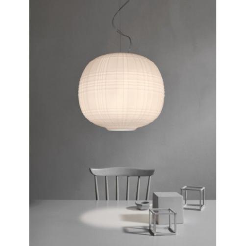 Foscarini Tartan MyLight hanglamp -Wit