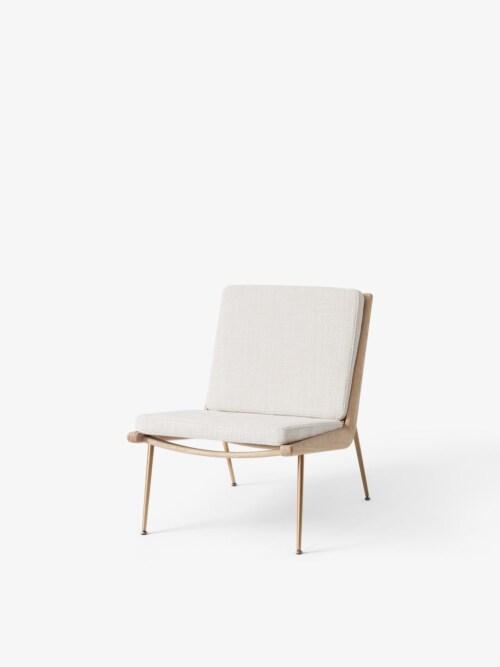 &tradition Boomerang HM1 fauteuil-Crème-Witte olie eiken