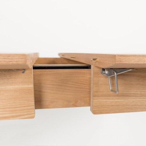 Zuiver Glimps Natural uitschuifbare tafel-120/162x80x76 cm