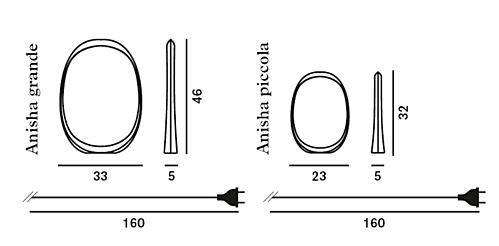 Foscarini Anisha tafellamp-Wit-Piccola