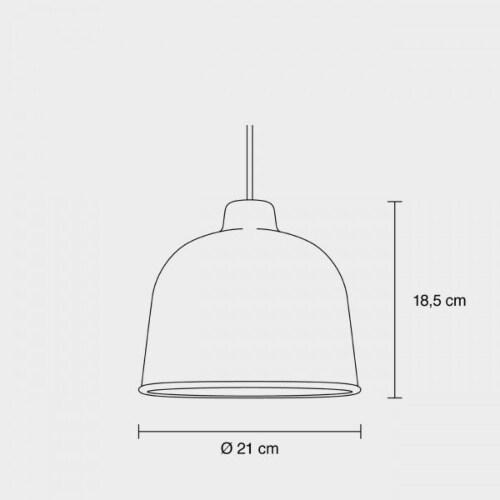 muuto Grain hanglamp-Grijs