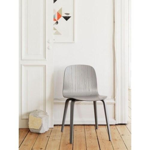 muuto Visu Wood stoel-Grijs