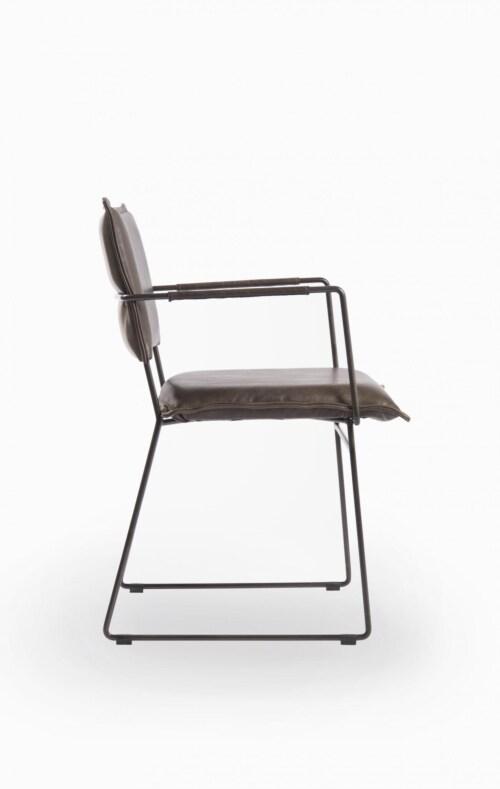 Jess design Norman met arm Luxor eetkamerstoel