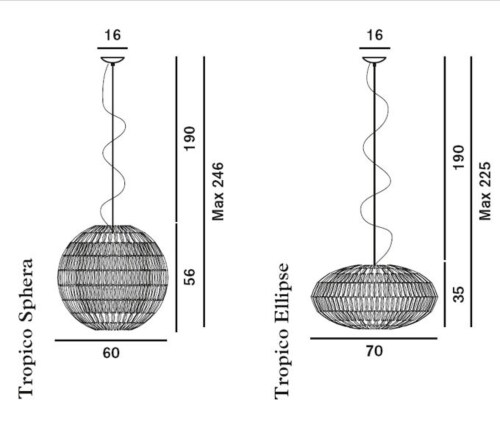 Foscarini Tropico hanglamp-Ice-Ellipse