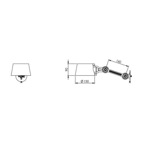 Tonone Bolt Side Fit Small wandlamp-Black